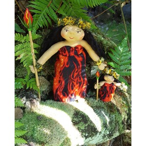 Huggable Hawaiian Art Doll Pele