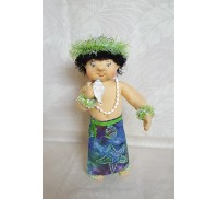 Huggable Hawaiian Art Doll, Pu (Conch Shell)