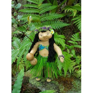 Huggable Hawaiian Art Doll, Pua 'Olena