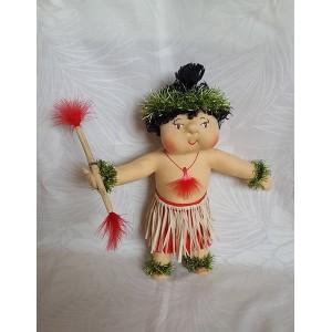 Huggable Hawaiian Art Doll, Ahi (Fire)