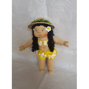 Huggable Hawaiian Art Doll, Hulili (First Light)