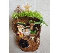 Hawaiian Nativity Scene