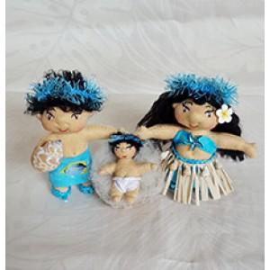 Hawaiian Ocean Theme Nativity Scene