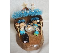 Hawaiian Ocean Theme Nativity Scene